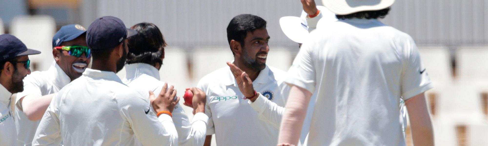 Ravichandran Ashwin took 3/90 on day one at Centurion for India
