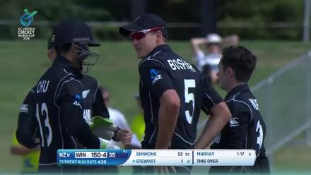 Watch all the West Indies wickets in their U19CWC clash against New Zealand