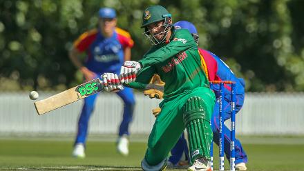 Bangladesh captain Saif Hassan smashed 84 off just 48 balls
