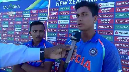 The India U19 opening pair provide their thoughts after the innings