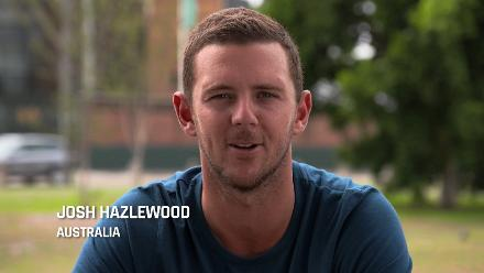 Josh Hazlewood wishes the Australia U19s all the best