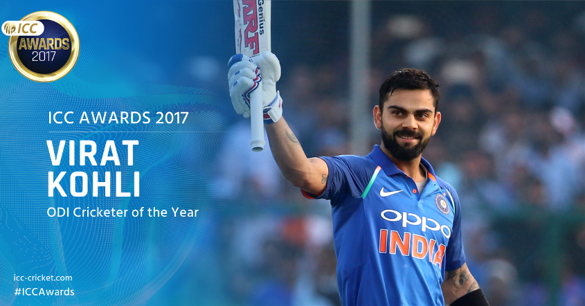 Kohli scored six ODI tons last year averaging an astonishing 76.84.