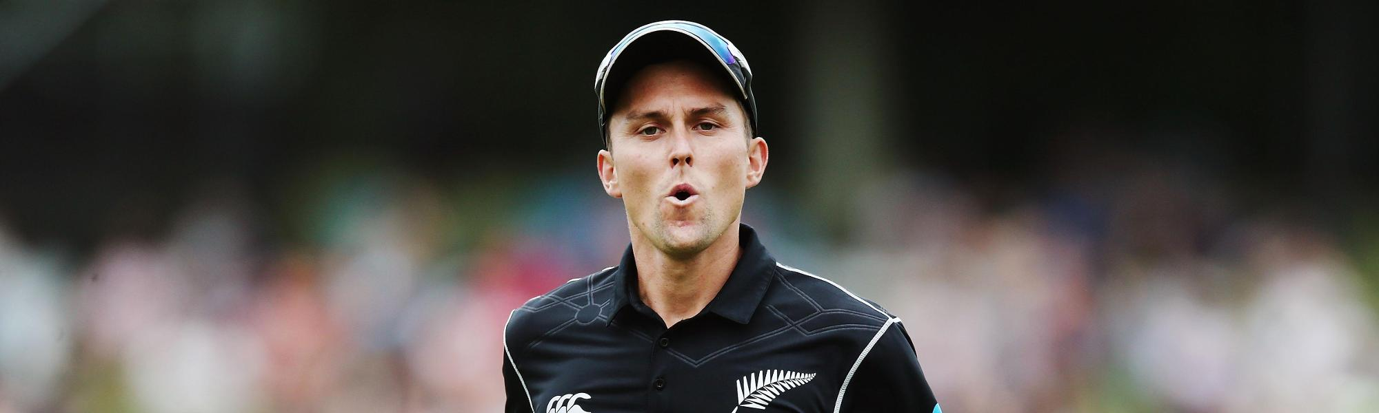 Trent Boult played in the first four ODIs against Pakistan