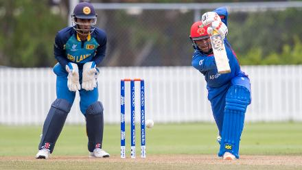 Ibrahim Zadran top scores for Afghanistan U19s against Sri Lanka with 86 from 112 balls