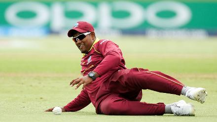 Bhaskar Yadram of the West Indies fields