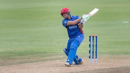 Big hitting from Afghanistan's Rasooli against Sri Lanka