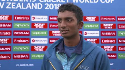 Pre-game: Sri Lankan all-rounder Santhush Gunathilaka