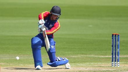 Jurgen Linde of Namibia batting