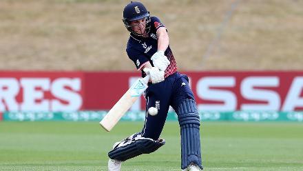 Harry Brook of England hits a Century