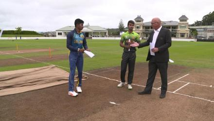 Coin Toss: Pakistan U19s win the toss and choose to bowl against Sri Lanka