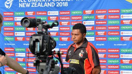 Pre-game: PNG U19s captain Vagi Karaho