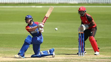 Shaun Fouche of Namibia batting