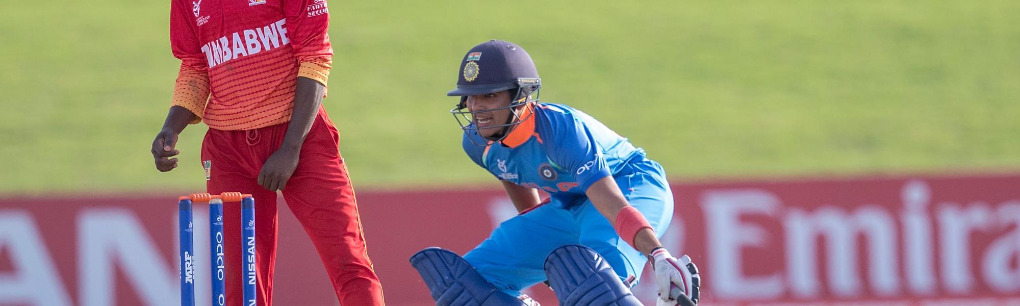 Shubman Gill of India batting