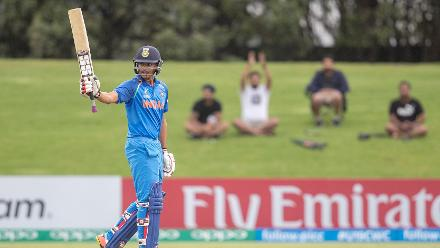 India U19 batsman Harvik Desai hit a maiden first-class century in his side's win