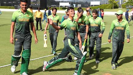 Muhammad Musa hits the winning runs to win the match for Pakistan