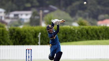 Sri Lankan batsman Ashen Bandara striking the ball