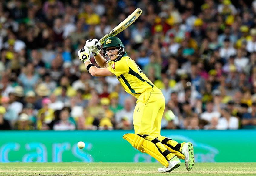 Steve Smith was dismissed for 45 after a marginal caught-behind decision