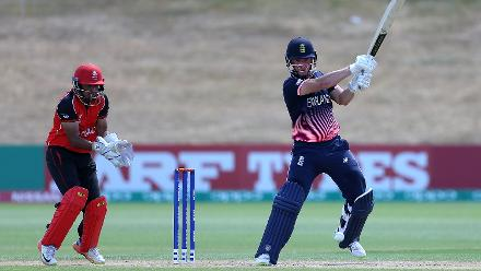 Liam Banks of England batting