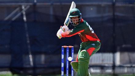 Aman Gandhi of Kenya batting