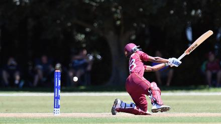 Alick Athanaze of the West Indies batting