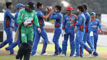 Afghanistan celebrate taking a wicket