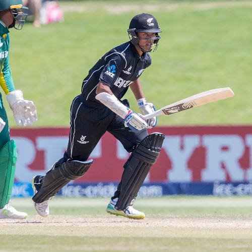 Rachin Ravindra of New Zealand batting
