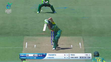 Rolfes nicks behind and departs for 5 against Pakistan at U19CWC