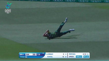 Coetzee's diving catch in the deep to dismiss Ammad Alam