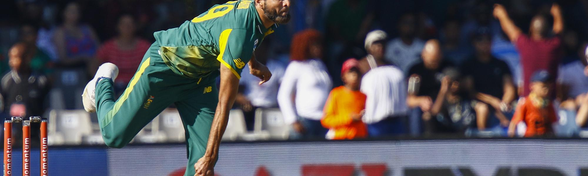 Tahir took 2/23 on his international return