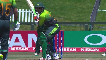 Zaid Alam is caught by Rolfes off Coetzee for 15