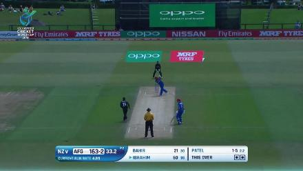 NZ v Afghanistan: Ibrahim  Zadran batting highlights