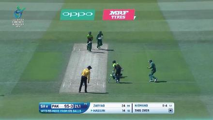 How Pakistan's wickets fell against South Africa at U19CWC