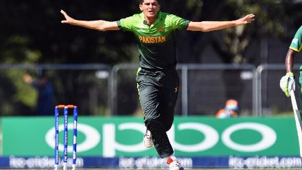 Shaheen Shah Afridi of Pakistan celebrates after dismissing Matthew Breetzke of South Africa