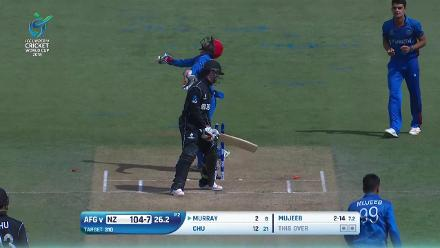 Majestic Mujeeb takes 4/13 against New Zealand