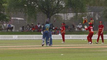 Sri Lanka beat Zimbabwe by 5 wickets and reach the U19CWC Plate Final