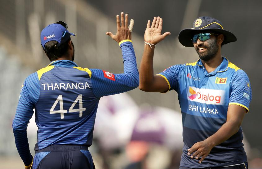 It was high-fives all-round after a superb Sri Lankan performance
