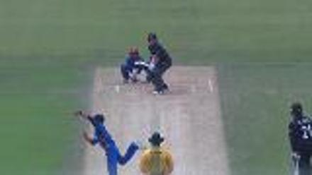 Dale Phillips trapped lbw by Qais Ahmad