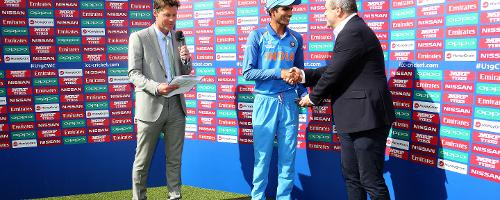 Shubman Gill is presented with Player of the Match
