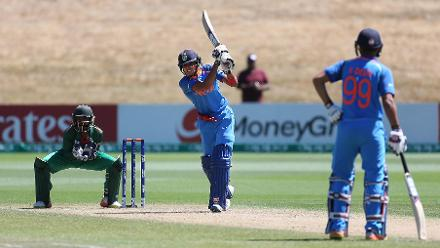 Shubman Gill of India batting