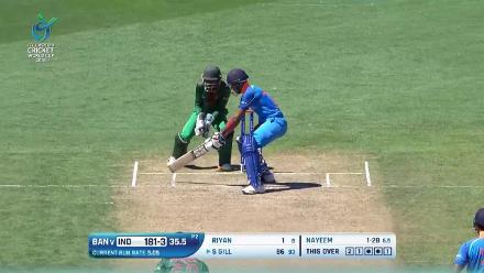 Highlights of India's 265 against Bangladesh at U19CWC
