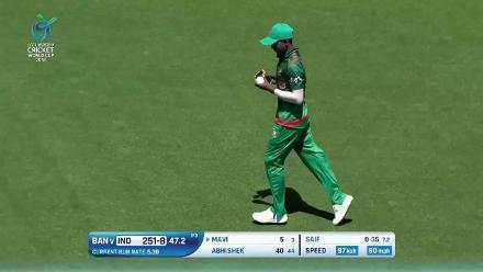 Mavi holes out for 5 against Bangladesh