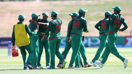 Bangladesh celebrate during the ICC U19 Cricket World Cup