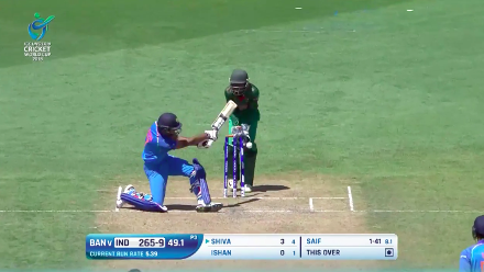Shiva Singh the last to fall as India are all out for 265 against Bangladesh