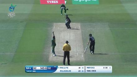 How New Zealand's wickets fell against South Africa in the U19CWC 5th place play-off semi-final