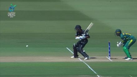 A top catch in the deep by Kenan Smith to dismiss Rachin Ravindra