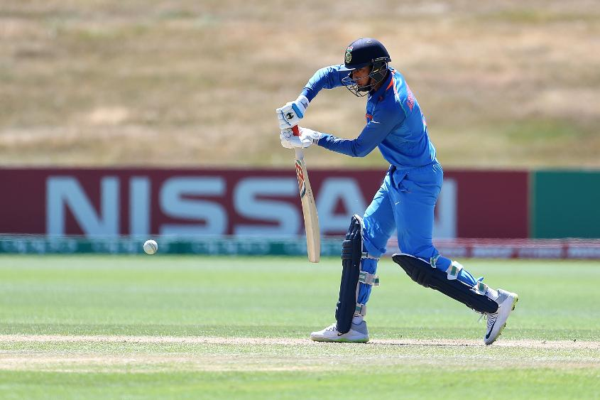 Abhishek Sharma scored 50 against Bangladesh in the quarter-final of the U19 World Cup