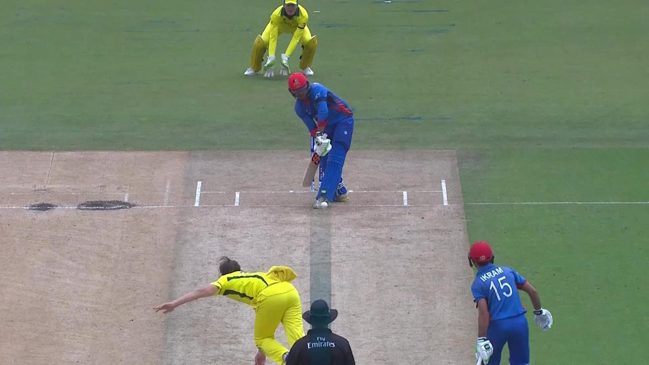 Darwish Rasooli goes for 2, lbw to Jonathan Merlo