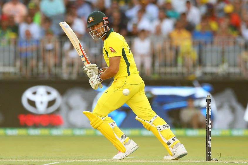 Marcus Stoinis top-scored for Australia with 87 from 99 balls in the fifth ODI against England