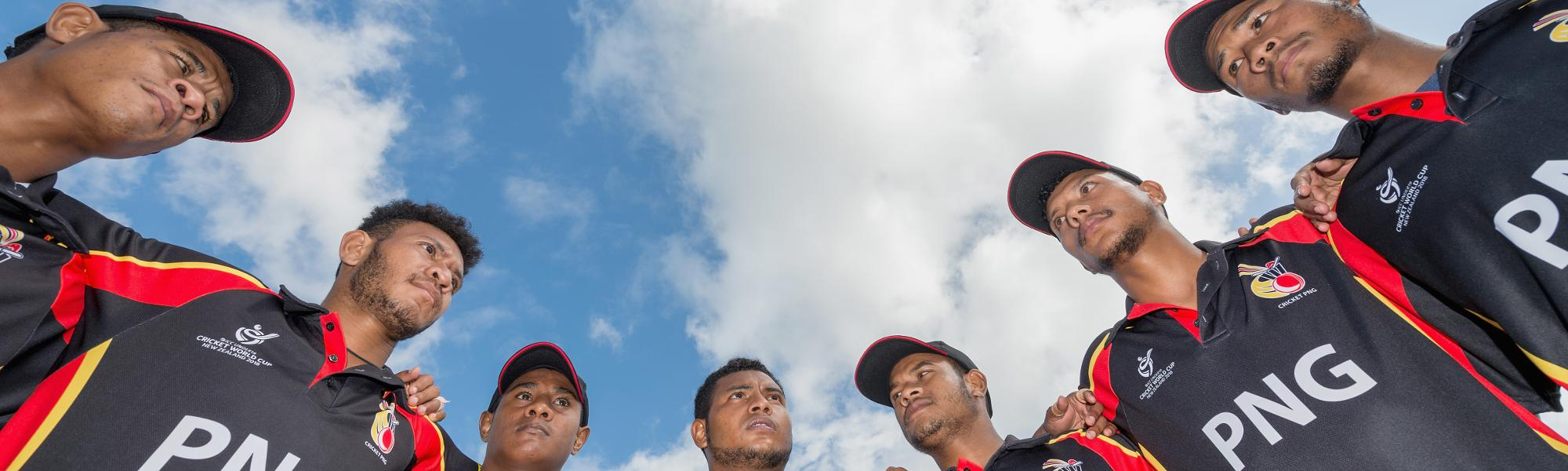Papua New Guinea's side at the U19 World Cup