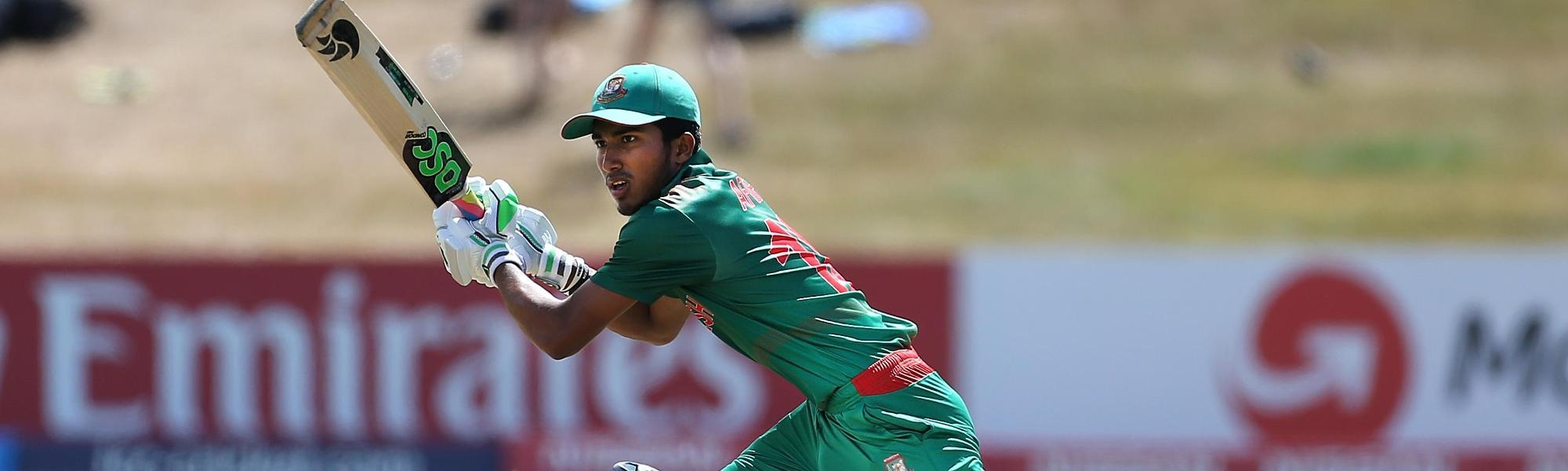 Afif Hossain Dhrubo of Bangladesh batting